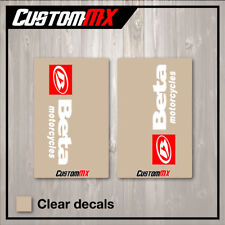 BETA MOTORCYCLES CLEAR UPPER FORK DECALS MOTOCROSS GRAPHICS MX GRAPHICS