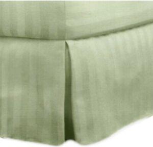 "Charter Club 500 TC Damask Stripe Twin Bedskirt Palmetto 16"" Drop 39"" X 75���"