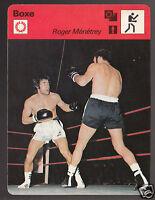 ROGER MENETREY Ménétrey Boxing vs Billy Backus 1977 FRANCE SPORTSCASTER CARD