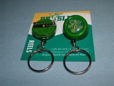 Dr Slick 2 Reels Pin-On O Ring Green Fly Fishing Retractor Reel Zinger RISOG