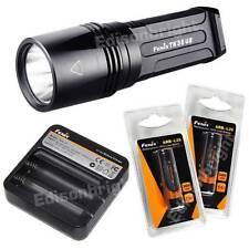 Fenix TK35UE 1800 Lumen Cree LED tactical Flashlight 2X 18650 Battery & Charger