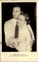 Schauspieler PK DDR ~1955 Porträt-Foto Gérard Philipe & Christiane Minazzoli