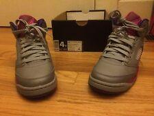 new girls Air Jordan 5 IV Retro GS Pink Raspberry Red Cement Grey Girls sz 4Y
