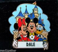 Mickey Minnie Donald Disneyland Name Pin Dale Disney Pin