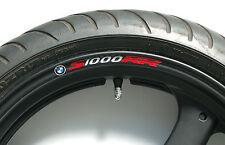 8 x BMW S1000RR Wheel Rim Stickers - 20 Colours Available - s 1000 rr carbon