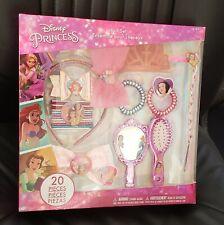 Rare Disney Princess Hair Accessories Ariel Mermaid Snow White Tiara Bows Set