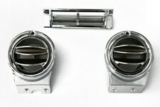 67-72 Chevy/GMC C/10 Truck Chrome Round A/C Center & Side Vents Air Conditioning