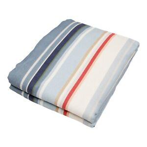 Pottery Barn $179 Lisi Stripe Linen/Cotton Curtain, Cool Multi, 84 x 50
