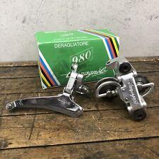 Vintage Campagnolo 980 Rear + Front Derailleur Italy C + Box Lot!