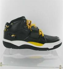 ADIDAS MUTOMBO TR BLOCK TRAINERS BLACK/WHITE/YELLOW SIZE 9 UK