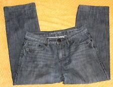 Calvin Klein Women's cropped Slim Straight Capri Blue Jeans Size 14 Hemmed 1 1/4