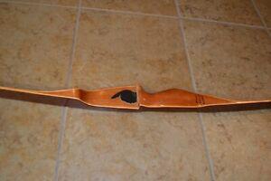 "Vintage INDIAN Recurve Archery Bow 62"" 50# Right Hand Wood/Fiberglass"