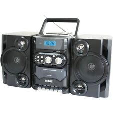 Naxa NPB-428 Mini Hi-Fi System - Black - CD Player, Cassette Recorder - FM, AM