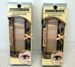 2x Physicians Formula Shimmer Strips Shadow & Liner-Natural Nude Eyes 7869 (W73)