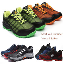 NEW MENS LIGHTWEIGHT STEEL TOE CAP SAFETY WORK TRAINERS SHOES BOOTS GENTS-SIZE