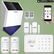 KERUI G18 GSM Wireless Autodial Home Burglar Intruder Alarm,Outdoor Solar Siren