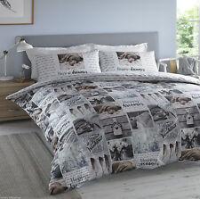 Hashtag Happy Dreamer Multi Print King Size Duvet Cover Bed Set