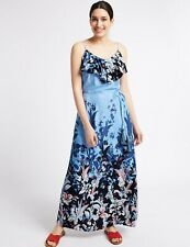 M&S Per Una  Floral Ruffle Maxi Dress- Size 22 BNWT