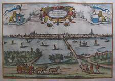 Kampen in den Niederlanden - Braun und Hogenberg - Originale Ansicht um 1580