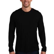 Mens Slim Fit Long Sleeve Crew Neck T-Shirt Stretch Cotton Tee Undershirt YT8166