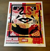 Shepard Fairey Obey Giant FACE COLLAGE Signed Screen Print Art On Paper