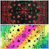 Multi-Coloured 100% Cotton Skull Fusion Bandanna Cow Boy Girl Biker Scarf