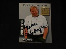 MIKE HOLMGREN 1992 SKYBOX ROOKIE SIGNED AUTOGRAPHED CARD #148 GREEN BAY PACKERS