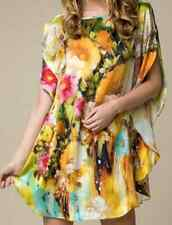 """100% Silk Shirt""""So Cool You Feel Naked*NEW""""Floral Elegance*SilkArt*Size10-14*BR"""