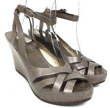 d78d5e576a3 AGL Attilio Giusti Leombruni Gray Wedge Ankle Strap Leather Sandals 5.5 36.5