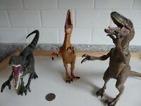 Lot 3 Hasbro Jurassic Park World JP JP3 Velociraptors Dinosaurs