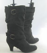 """new Blacks 3"""" high heel round toe  mid-calf sexy boot  .Size   adult size 12"""