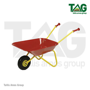 Childrens red and yellow toy wheel barrow - R27080