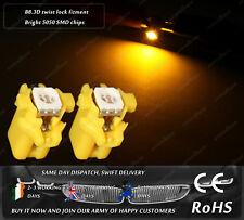 LED SMD B8.3D Amber Yellow Orange Dashboard Cluster Speedometer Light Bulbs 12V