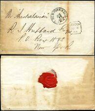 GB 1868 Union Bank a R Hubbard New York Note PMK + ispezione CROCE + GUARNIZIONE