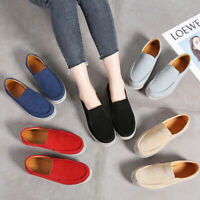Real Leather Women's Comfort Breathable Walking Casual Ladies Flats Pumps Shoes