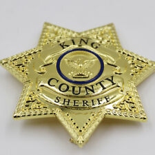 The Walking Dead King County Sheriff Badge Prop Grimes Badge-Replica Brass