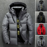 Stylish Men's Winter Duck Down Jacket Hooded Puffer Warm Outwear Coat Plus Size
