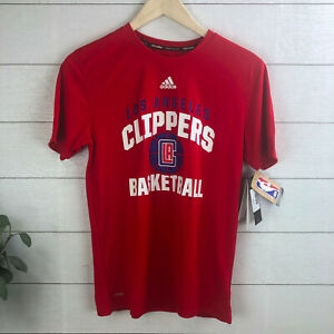 NBA Youth Boys Large (14-16) Adidas Los Angeles Clippers Short Sleeve Shirt NWT