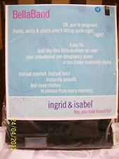2-PACK Ingrid & Isabel Bella Band Everyday Maternity Pregnancy Black White Sz 1