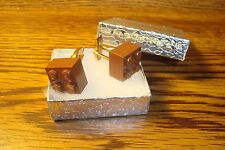 "BROWN LEGO Design Cuff links 1 Pair (Two) 5/8"" x 5/8""  Hamilton Gold Plate $2.50"