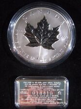 1998 Canada $50 Dollar 10 oz .999 Silver Round w/.925 COA ** FREE US SHIPPING **