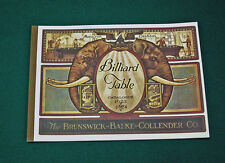 Reproduction of Brunswick-Balke-Collender 1923-24 Antique Pool Table Catalog