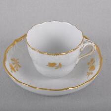Meissen Goldzweig Mokkatasse / Espressotasse, gold, NeuMarseille Relief, TOP