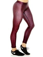 Zara Terez Tights Red Reptile Skin Spandex Yoga Pants Sz XS NWOT