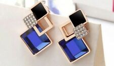 Earring Boho Festival Party Boutique Uk Gold Blue Bling Lixury Crystal Fashion