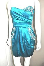 B. DARLIN RHINESTONE DRESS SIZE 3/4 BLUE GREEN
