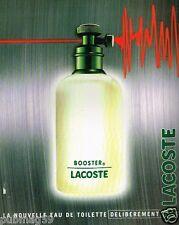 Publicité advertising 1996 Eau de Toilette Booster Lacoste