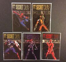 SECRET WAR #1 -5 Comic Books MARVEL SERIES Bendis Spider-Man Wolverine Daredevil