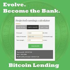 BITCOIN LENDING BUSINESS - HIGH ROI - MULTIPLE INVESTMENT ENGINES