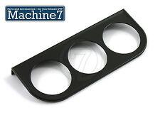 Pressione OLIO TEMP GAUGE tachimetrico mount RACCORDO DEL PANNELLO 52mm, Nero, triplo (VDO)